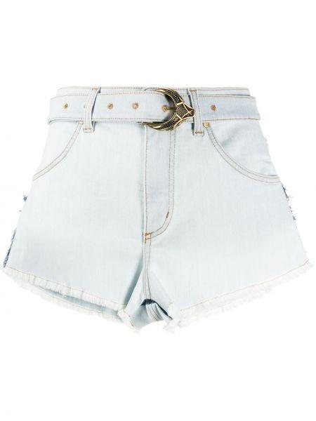 Джинсовые шорты с карманами со стразами на пуговицах Roberto Cavalli