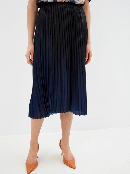 Плиссированная юбка синяя осенняя Gerry Weber