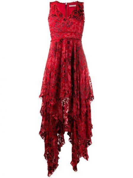 Расклешенное коктейльное платье без рукавов с вырезом на молнии Alice+olivia