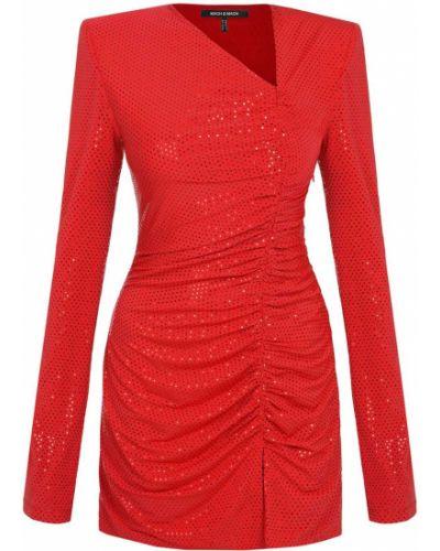 Трикотажное красное платье мини Mach & Mach