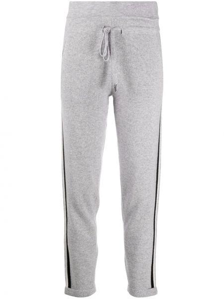 Шерстяные серые спортивные брюки с нашивками с карманами Max & Moi