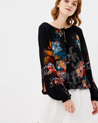 Черная блузка с длинным рукавом Desigual