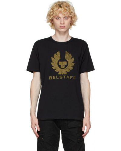 Bawełna czarny koszula z krótkim rękawem z kołnierzem krótkie rękawy Belstaff