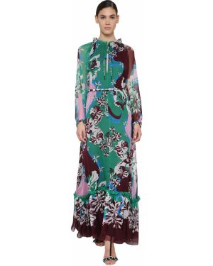 Платье макси на пуговицах с поясом Emilio Pucci