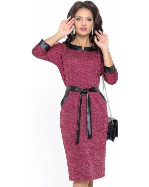 Платье с поясом с декольте спортивное Dstrend