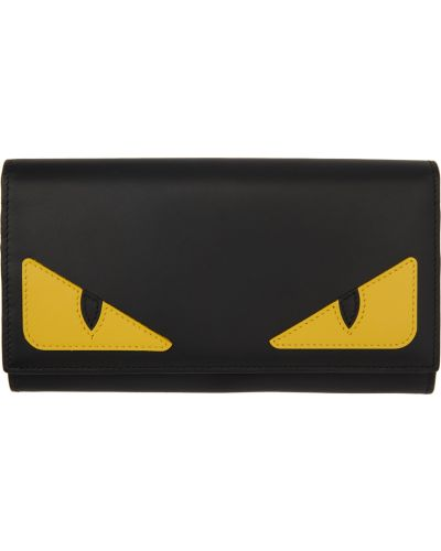 Czarny portfel skórzany Fendi