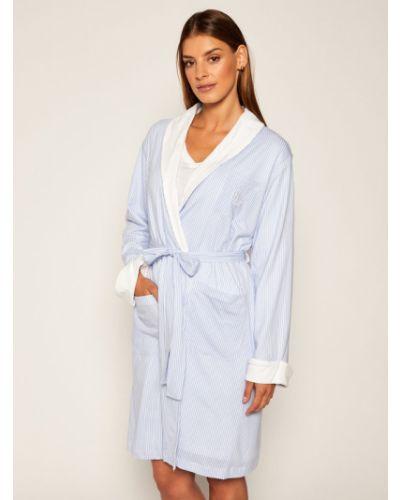 Niebieski szlafrok Lauren Ralph Lauren