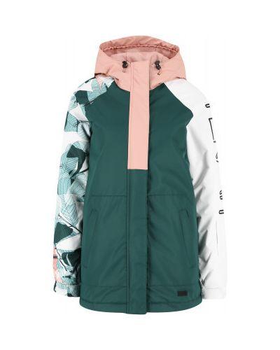 Зеленая куртка мембранная на молнии с капюшоном Termit