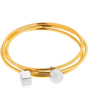 Żółta złota bransoletka ze złota pozłacana Uribe
