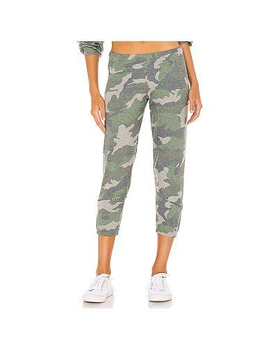 С кулиской текстильные зеленые брюки на резинке эластичные Michael Lauren