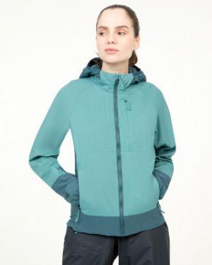 Теплая коричневая нейлоновая куртка с капюшоном на молнии Mountain Hardwear