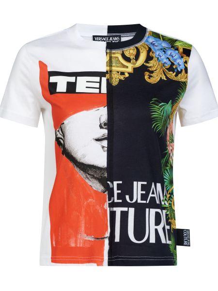 Хлопковая футбольная футболка Versace Jeans Couture