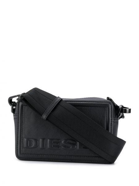 Черная сумка через плечо с перьями прямоугольная Diesel