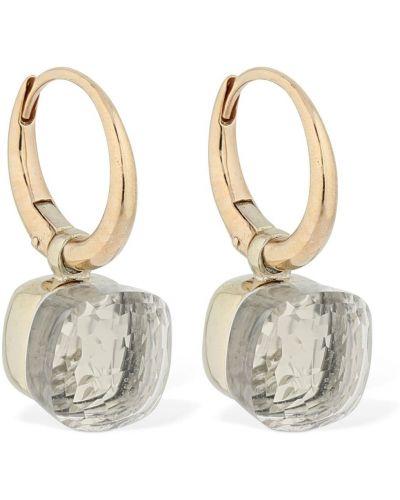 Серьги с камнями - белые Pomellato