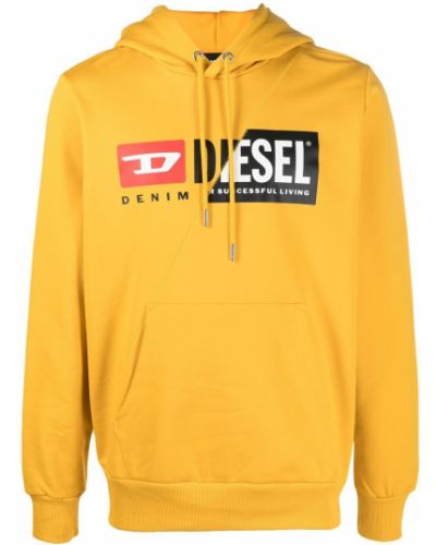 Prążkowany pulower z długimi rękawami z printem Diesel