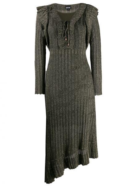 Платье макси вязаное с длинными рукавами Just Cavalli