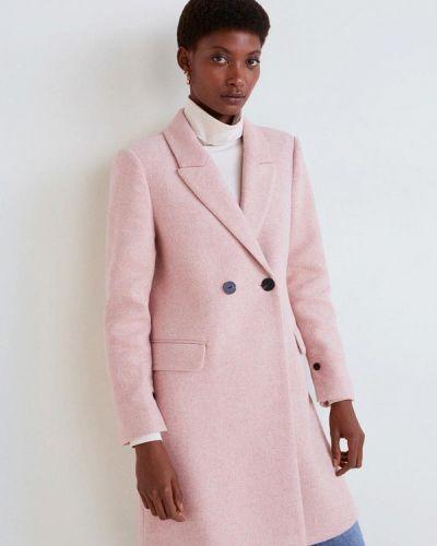 Пальто демисезонное розовое Mango