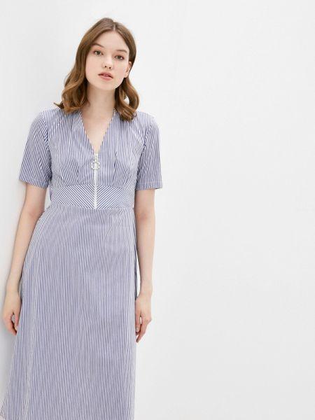 Платье прямое синее Adl
