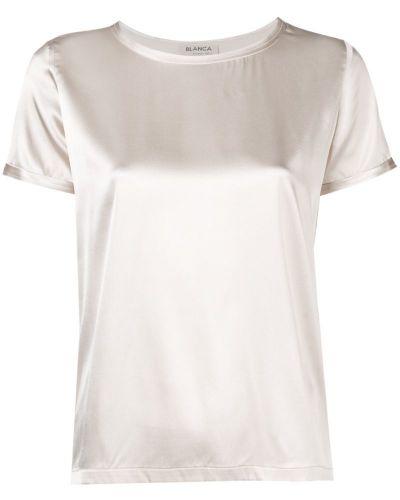 Блузка шелковая бежевый Blanca