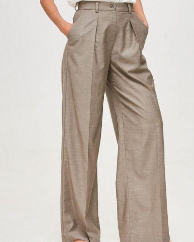 Расклешенные бежевые брюки Yulia'sway