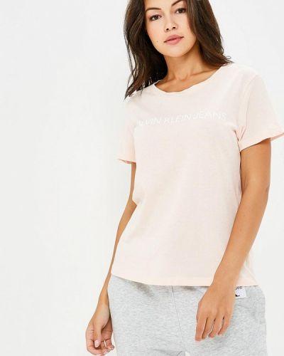 Розовая футболка 2019 Calvin Klein Jeans
