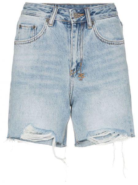 Однобортные джинсовые шорты с карманами со стразами Ksubi