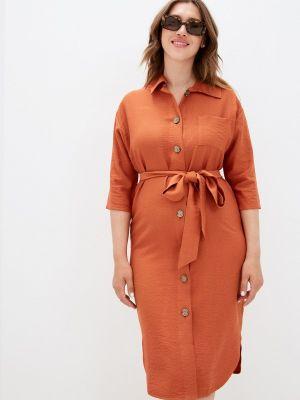 Коричневое платье-рубашка Mankato