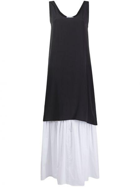 Шелковое серое платье без рукавов SociÉtÉ Anonyme