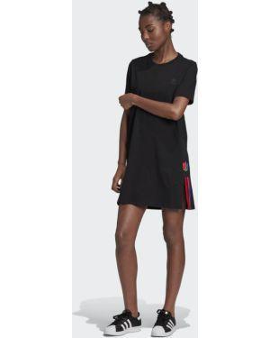 Платье в полоску футболка Adidas