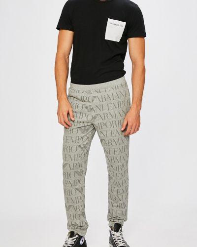 Серые брюки на резинке Emporio Armani