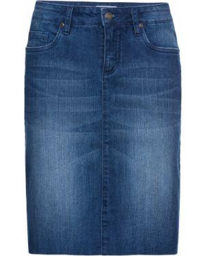 Юбка мини джинсовая синяя Bonprix