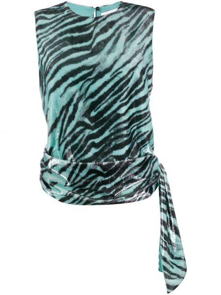 Блузка без рукавов батник синяя Brognano
