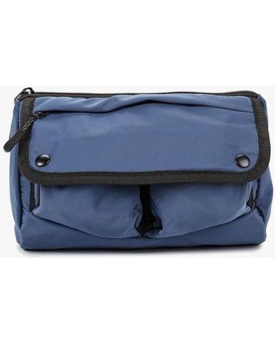 Синяя поясная сумка Topman