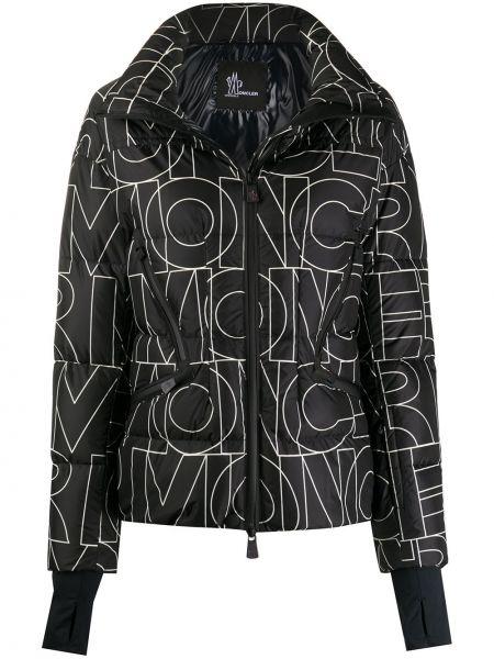 Стеганая пуховая длинная куртка для полных Moncler Grenoble