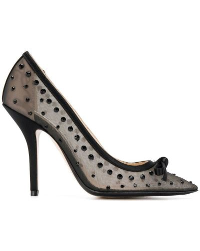 Туфли-лодочки черные с бантом N21