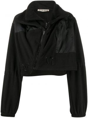 Czarna długa kurtka z długimi rękawami Ottolinger