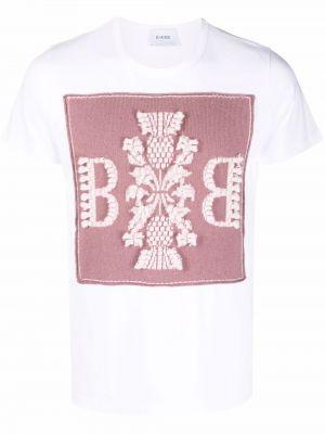 Biała koszulka bawełniana Barrie