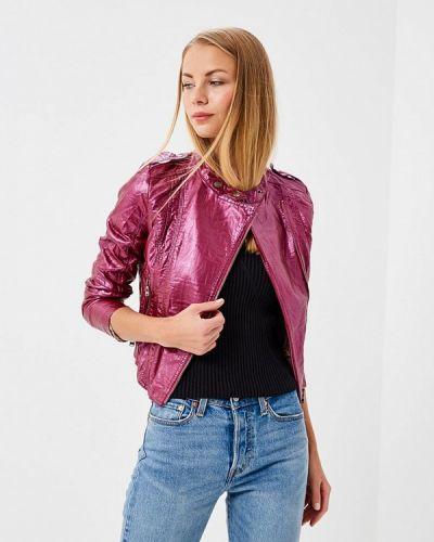Кожаная куртка весенняя фиолетовый Fascinate
