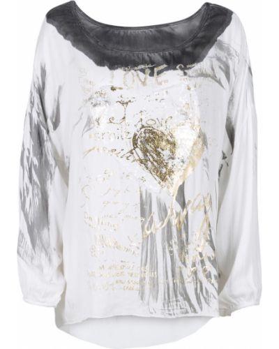 Блузка с пайетками из вискозы Bonprix