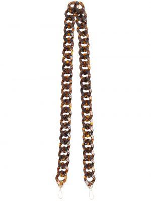 Brązowy złoty łańcuch ze złota La Milanesa