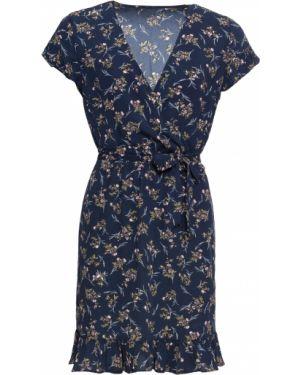 Летнее платье мини с поясом Bonprix