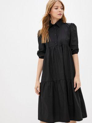 Черное зимнее платье Miss Gabby