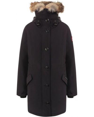 Куртка с капюшоном хлопковая с мехом Canada Goose