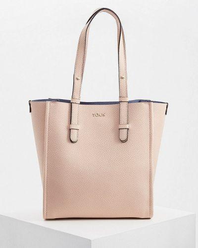 Кожаный сумка с ручками розовый Tous