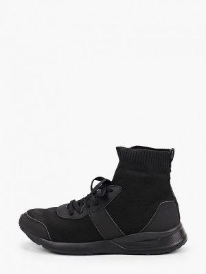 Текстильные высокие кроссовки - черные Kazar Studio