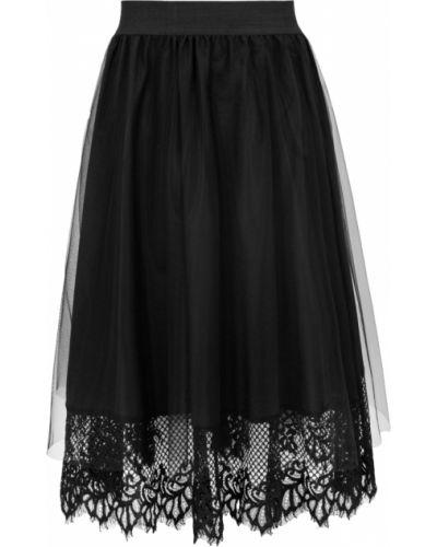 Spódnica rozkloszowana elegancka - czarna Makover