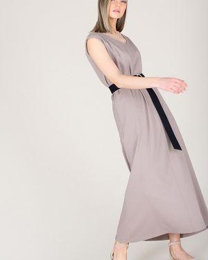 Платье с поясом с V-образным вырезом платье-сарафан Eliseeva Olesya