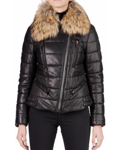 Кожаная куртка - черная Rizal