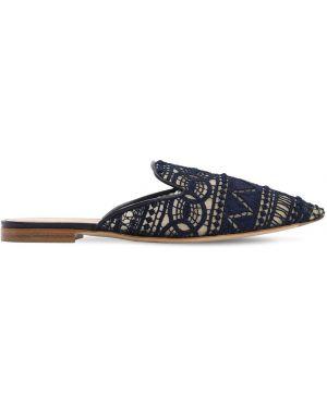 Мюли кожаные на каблуке Alberta Ferretti