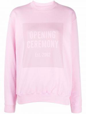 Толстовка длинная - розовая Opening Ceremony